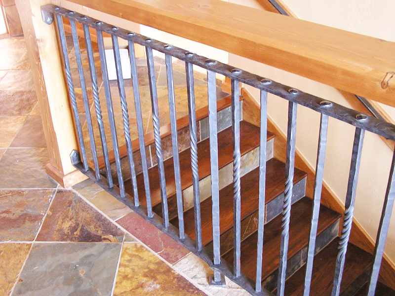 hand-railing-tenon-joinery-wrought-iron